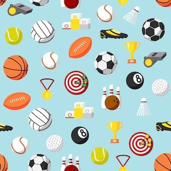 Fondo de patrones de deportes sin fisuras