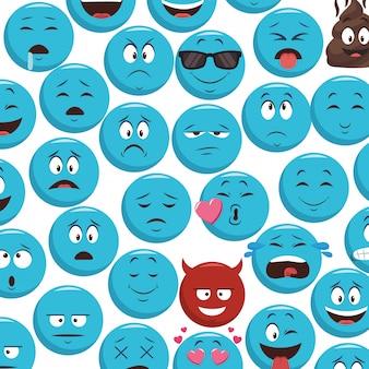 Fondo de patrones de emoticonos