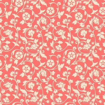 Fondo de patrones sin fisuras de flor