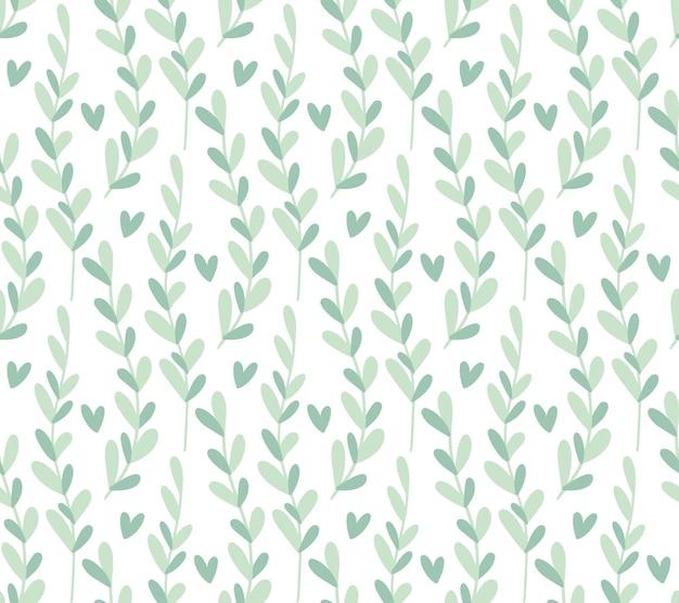 Fondo de patrones sin fisuras con hojas fondo floral neutro de color fresco de invierno minimalista lindo
