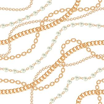 Fondo de patrones sin fisuras con peras y cadenas