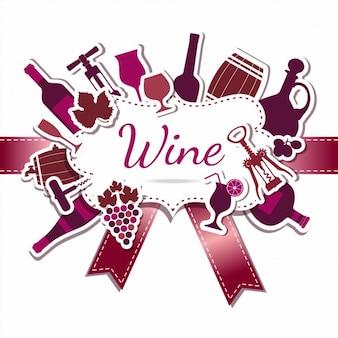 Fondo de pegatina de vino