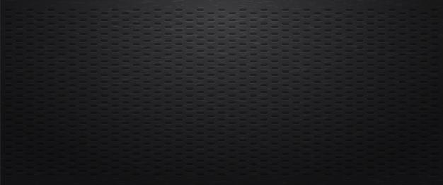 Fondo perforado negro con figura ovalada.