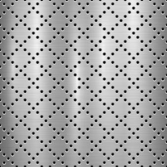Fondo perforado de tecnología con textura de metal