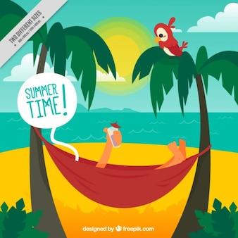 Fondo de persona disfrutando del verano