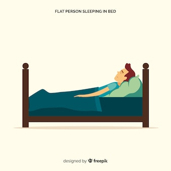 Fondo persona durmiendo en la cama