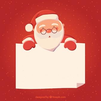 Fondo de personaje navideño con carta