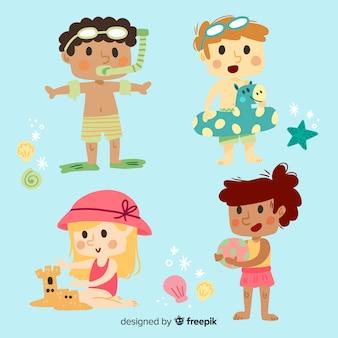 Fondo de personajes del día del niño