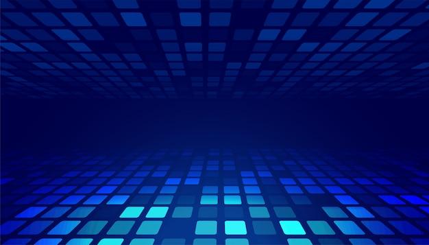 Fondo de perspectiva de tecnología brillante abstracto azul