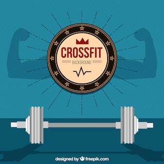 Fondo de pesas de crossfit en diseño plano
