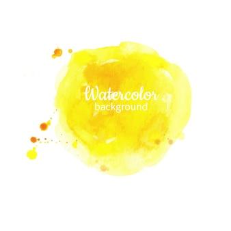 Fondo pintado a mano abstracto acuarela amarillo