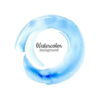 Fondo pintado a mano abstracto acuarela azul. textura de círculo de acuarela