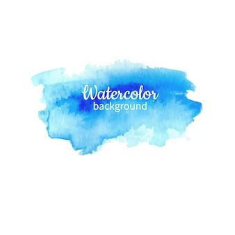Fondo pintado a mano abstracto acuarela azul