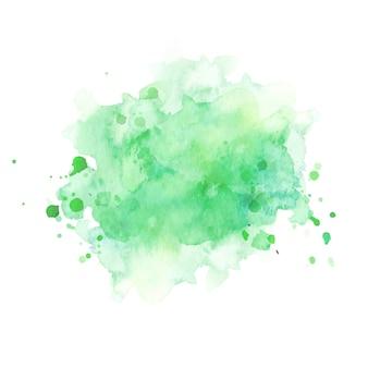 Fondo pintado a mano abstracto acuarela verde. textura de círculo de acuarela