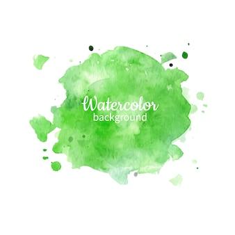 Fondo pintado a mano abstracto acuarela verde