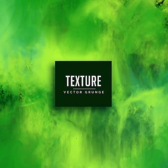 Fondo pintado a mano de textura de acuarela verde