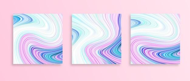 Fondo de pintura abstracta brillante con línea líquida