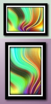 Fondo de pintura abstracta de mármol líquido