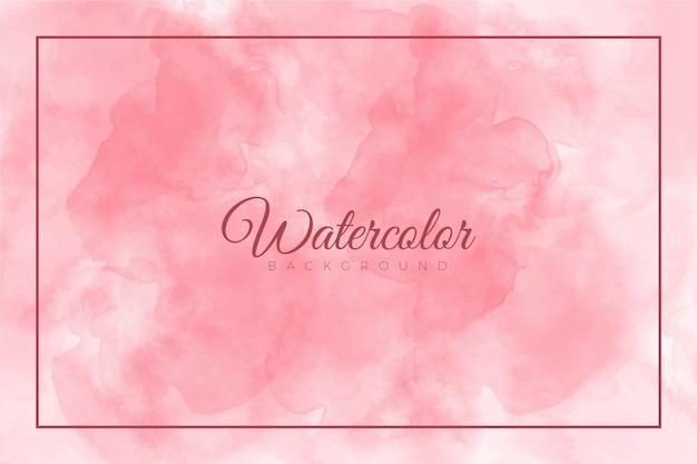 Fondo de pintura abstracta rosa splash con textura de acuarela