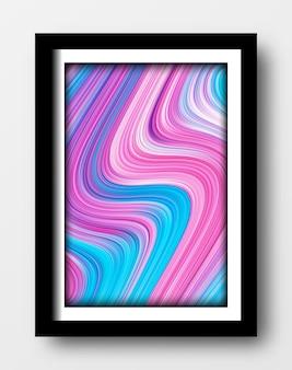 Fondo de pintura de arte fluido abstracto con técnica de movimiento de tinta formas pastel