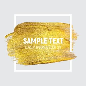 Fondo de pintura dorada brillante