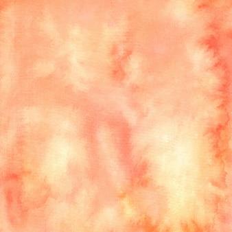 Fondo de pintura con textura abstracta acuarela durazno