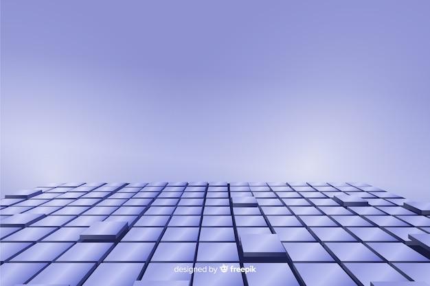 Fondo de piso de cubos realistas