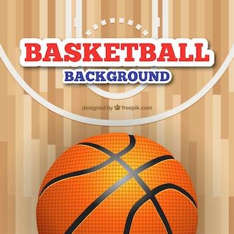 Fondo de pista de baloncesto
