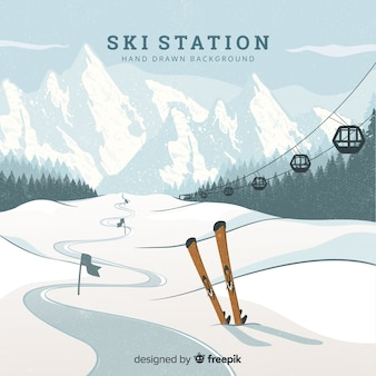 Fondo de pista de esquí