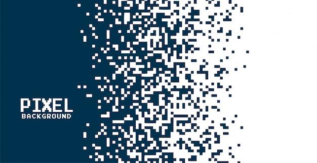 Fondo de píxeles moderno en estilo de efecto degradado
