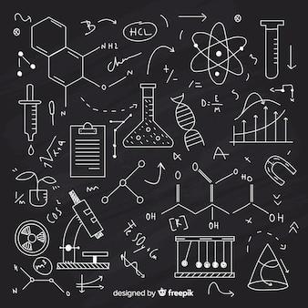 Fondo pizarra con información de química