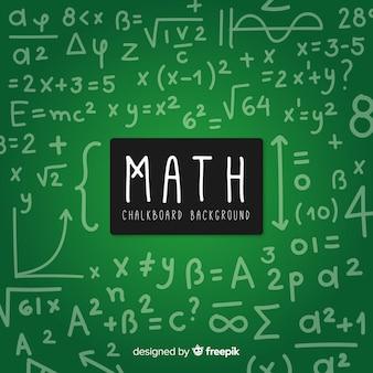 Fondo pizarra matemáticas realista