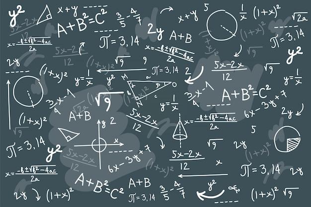 Fondo de pizarra de matemáticas