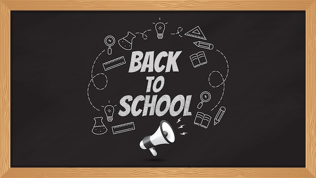 Fondo de pizarra negra de regreso a la escuela