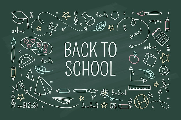 Fondo de pizarra de regreso a la escuela