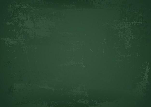 Fondo de pizarra verde escuela vacía