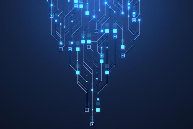 Fondo de placa de circuito abstracto de tecnología