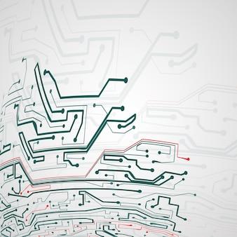 Fondo de placa de circuito, ilustración de tecnología