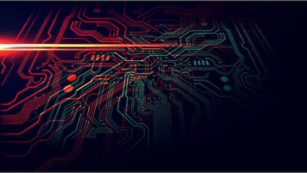 Fondo de placa de circuito