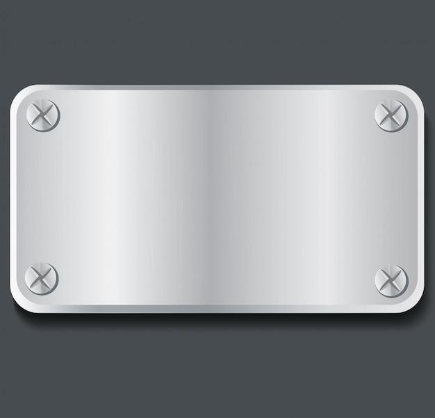 Fondo de placa de metal de la placa