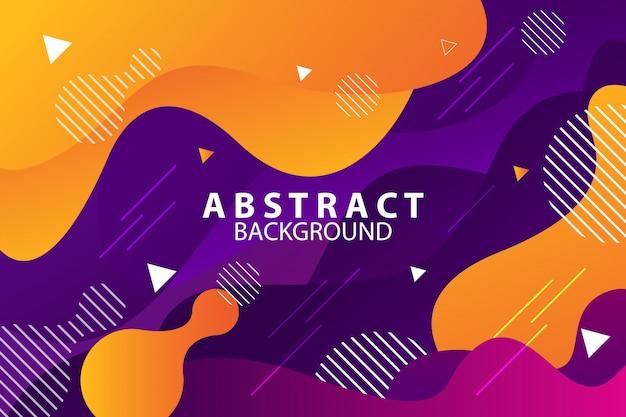 Fondo plano abstracto estilo memphis