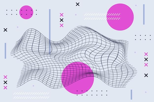Fondo plano abstracto de estructura metálica