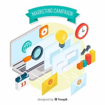 Fondo plano campaña marketing