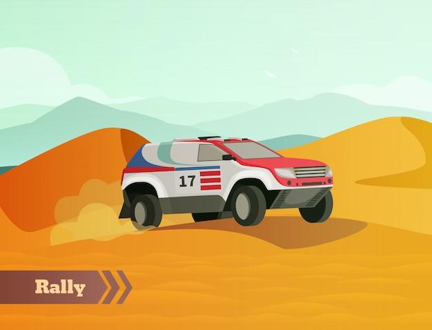 Fondo plano de carreras de rally