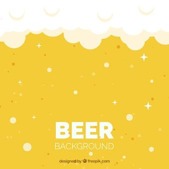 Fondo plano de cerveza