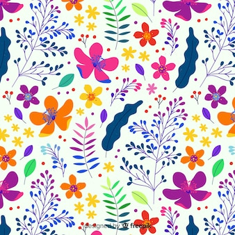 Fondo plano colorido floral estilo