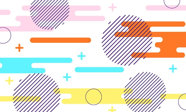 Fondo plano colorido de forma redondeada. fondo abstracto. ilustración vectorial.