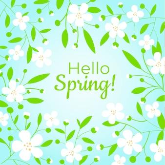 Fondo plano colorido primavera