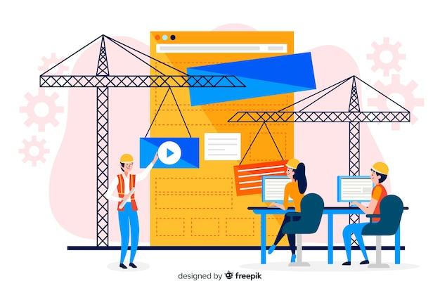 Fondo plano concepto ingeniería informática