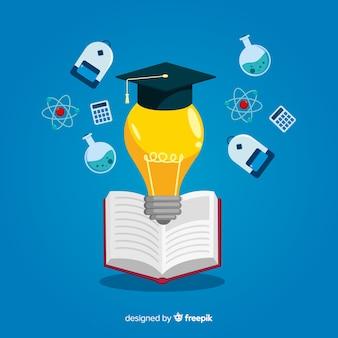 Fondo plano concepto universidad